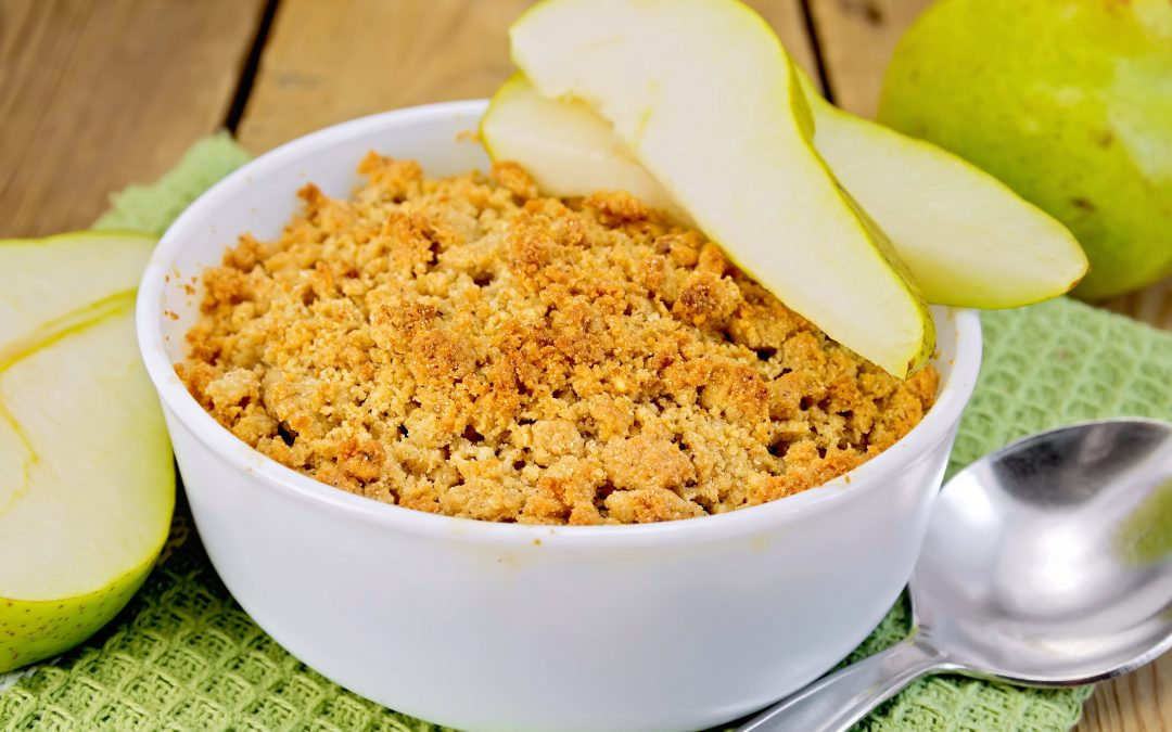 Ginger Pear Quinoa Crumble