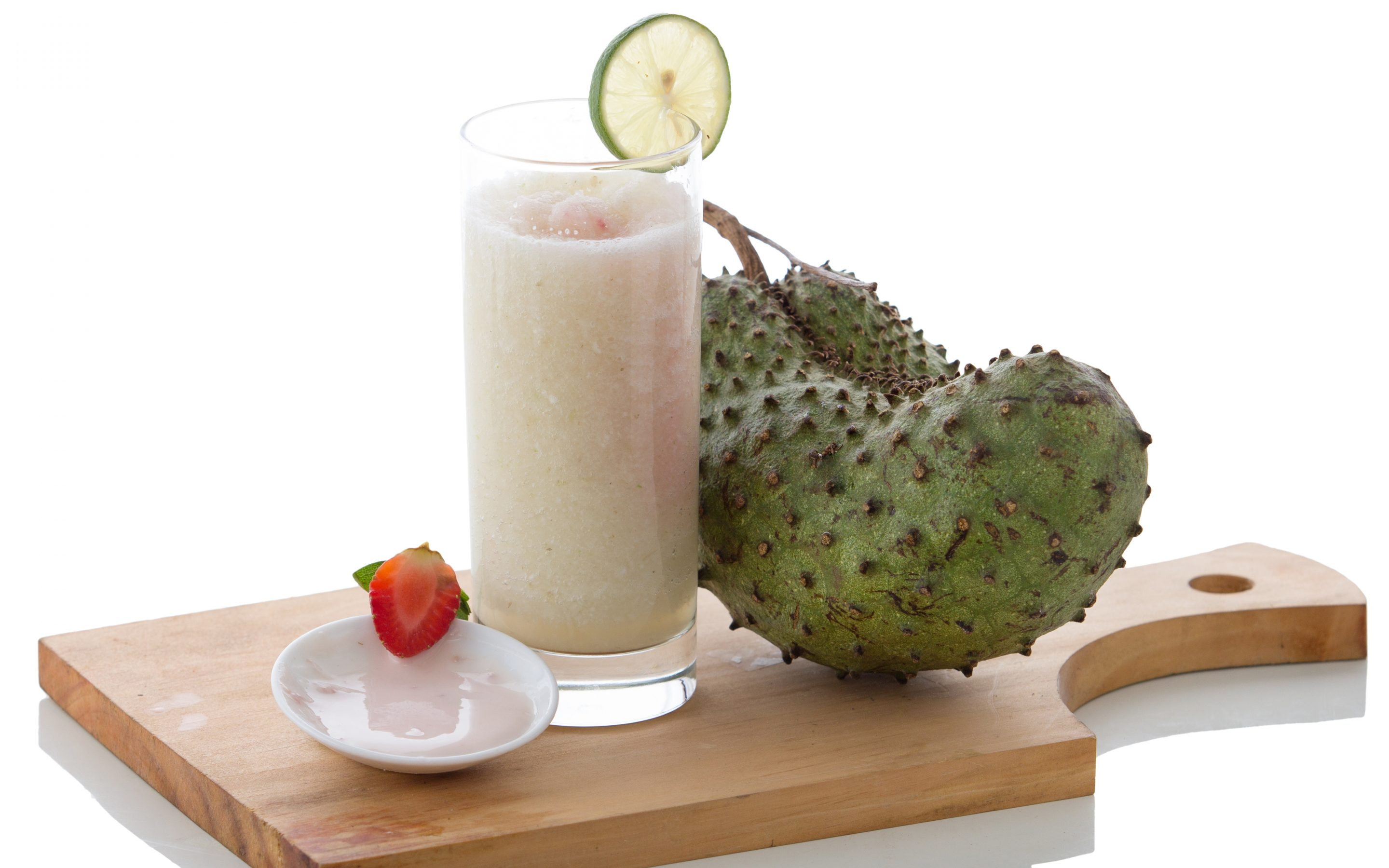 Yogurt and Soursop mix smoothies