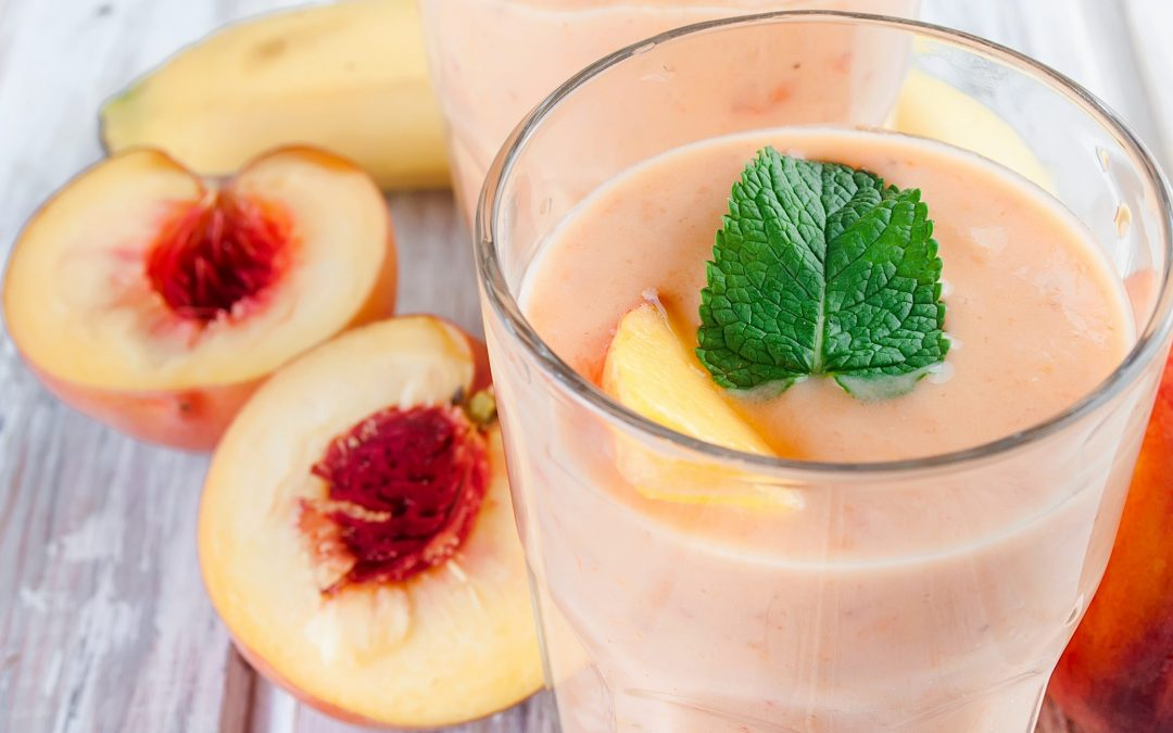 Fresh Peach, Banana, and Warm Millet Smoothie