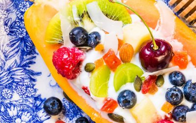 Papaya Yogurt Bowl