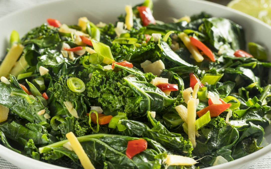 Collards and Cabbage with Lots of Garlic