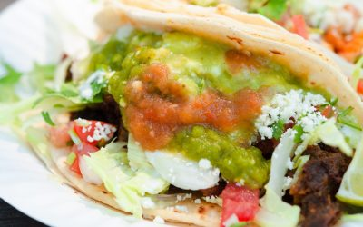 Roasted Tomatillo and Black Beans Tacos