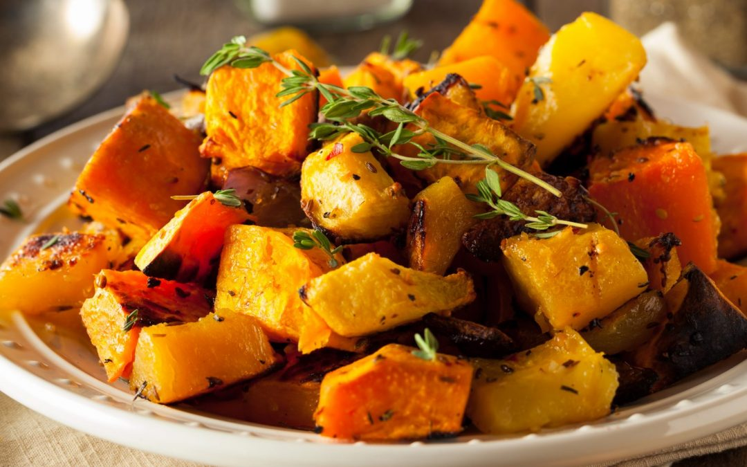 Roasted Root Vegetables with Roasted Garlic-Lime Dipping Sauce