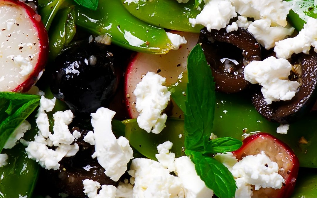 Sugar Snap Pea Salad with Radishes, Mint, and Ricotta